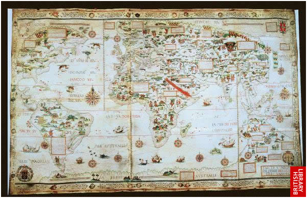 Desceliers' world map
