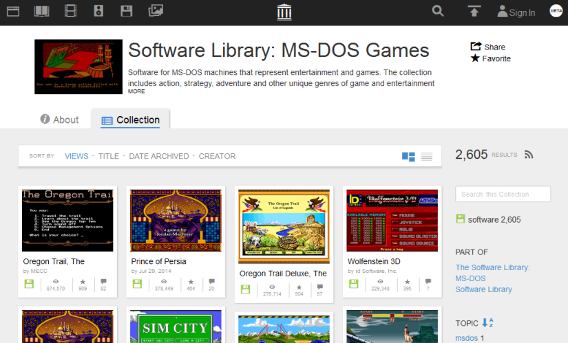 Internet Archive Video Games