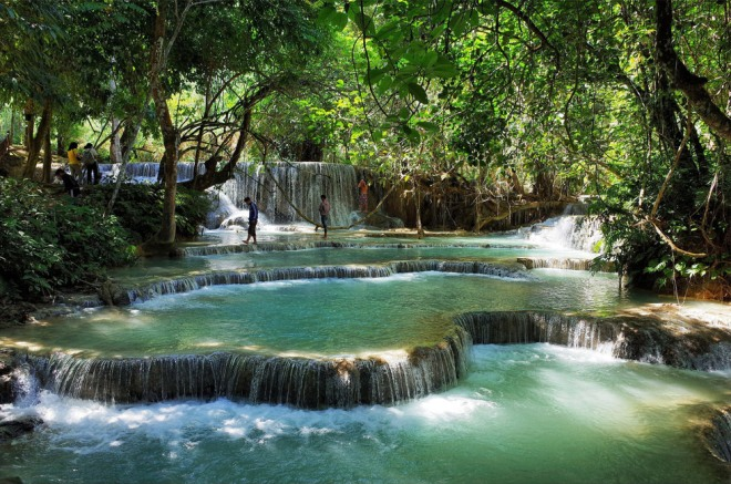Kuang Si Waterfalls, by Basil Strahm on Flickr, cc by 2.0