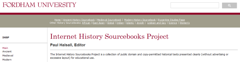 Resource Highlight: Internet History Sourcebooks