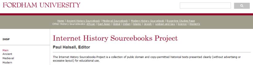 Resource Highlight: Internet HistorySourcebooks