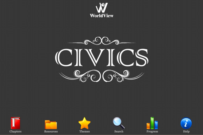 screen capture of civics title page