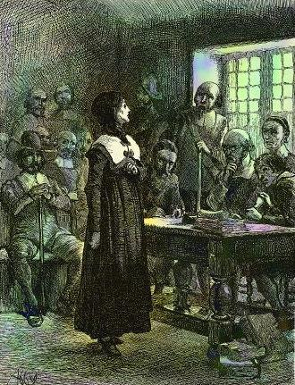 painting of courtroom scene